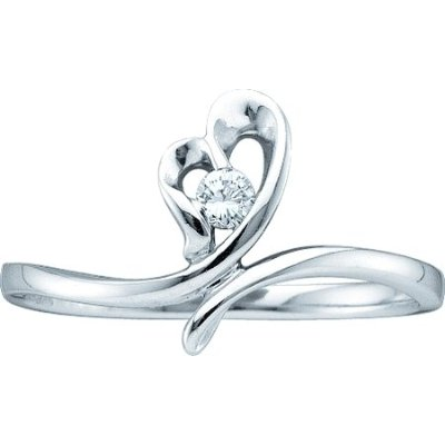 0.05CT DIAMOND PROMISE RING Standard Size 7