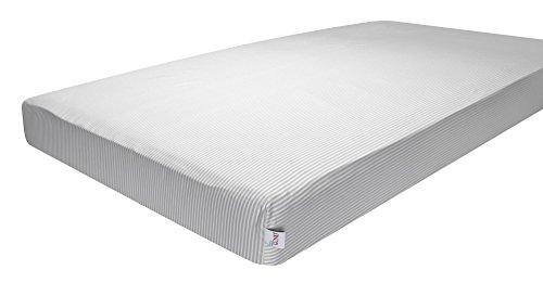 GUND Babygund Stripes Sateen Crib Sheet, Stripes - Golly Grey, 28'' By 52''