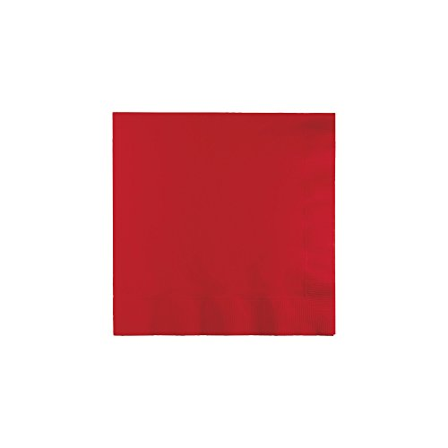 "Luncheon Napkins 12 7/8"" x 12 7/8""50/Pkg-Classic Red"