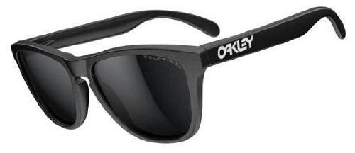 Oakley Frogskins Sunglasses - Polarized Matte Black/Black Iridium, One Size