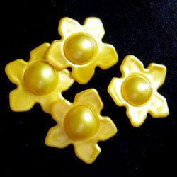Bath Bead Yellow Flower (Bag of 20)- Daisy Wedding Favor