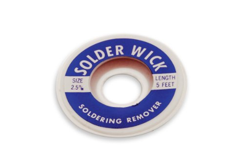 Aven 17542 Desoldering Wick, 2.5mm Width, 5′ Length