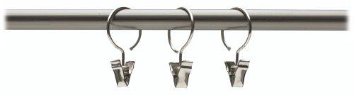 Umbra Clip 1-Inch Drapery Ring, Set of 10, Nickel