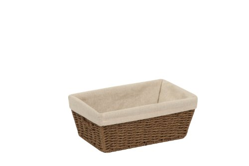 Honey-Can-Do STO-03563 Parchment Cord Basket with Handles and Liner, Brown, 6.89 x 11 x 4.5 inches (Basket With Liner compare prices)