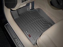 WeatherTech Custom Fit Front FloorLiner for Acura TSX (Black) (Black Car Mats For Acura Tsx compare prices)