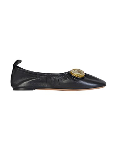 celine-womens-320383abs38no-black-leather-flats