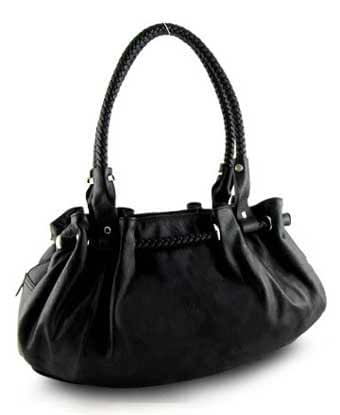 Women's synthetic leather tote shoulder bag with multiple ...