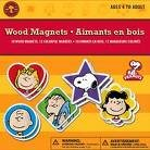 Colorbok Peanuts Wood Magnets