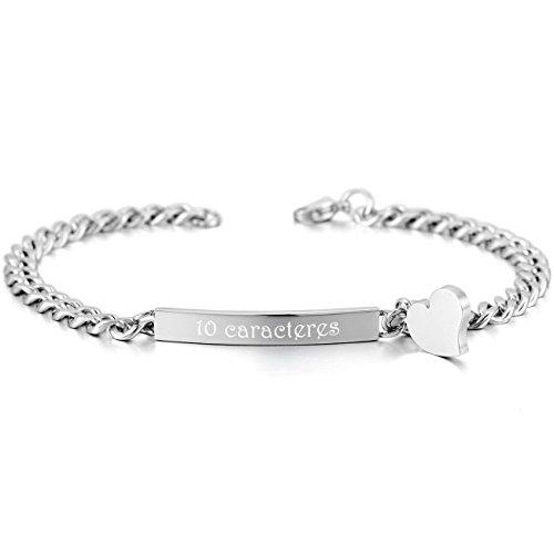 memediy-plata-acero-inoxidable-pulsera-brazalete-eslabones-link-enlace-corazon-pulido-grabado-person