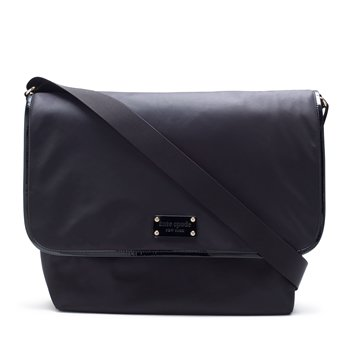 Kate Spade Large Black Messenger Baby Diaper Bag front-473882