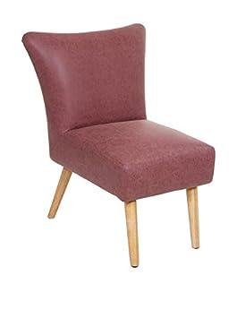 Coral vintage retro armchair