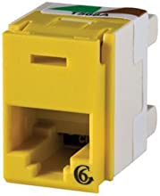 OR-PJ600-44 - Ortronics Clarity Category 6 Rear Loading Panel Jack Yellow