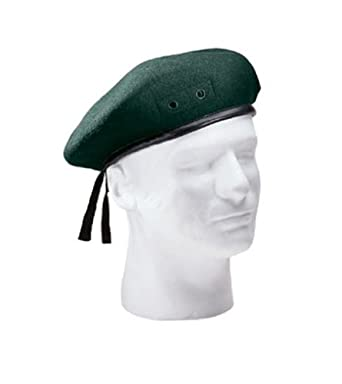 Green Military Beret Size 7.25