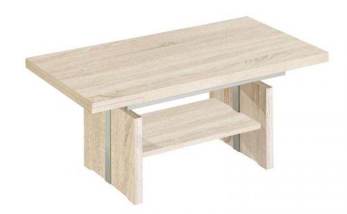 New Vierhaus I Esp Coffee Table Rough Cut Oak Effect