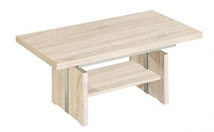 Vierhaus I-7299 Esp-Coffee Table Rough-Cut Oak Effect 110 / 68 / 51 70 CM Height-Adjustable Pull-Out