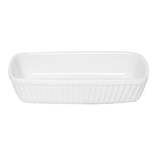 Excelsa Grande Forno Pirofila Rettangolare Ceramica, Bianco, 25.0 x 15.0 cm