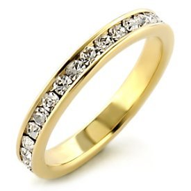 Size 7 - 1.00 Ct Round Channel Set Eternity Band Wedding Ring Cz Cubic Zirconia Band Ring