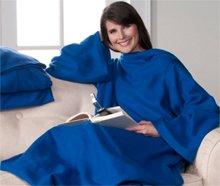 Snuggie Super Soft Fleece Blanket with free Booklight - Blue