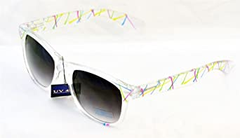 Sunglasses paint spatter pattern on Clear Frames