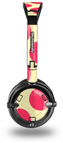 Skullcandy Lowrider Headphone Decal Style Skin - Kearas Polka Dots Pink On Cream - (Headphones Not Included)