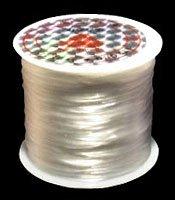 ブレスレット製作用ゴム糸 水晶の線 【太さ0.8mm】【75m】 ホワイト