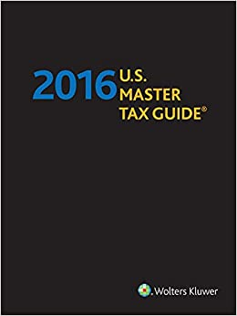 U.S. Master Tax Guide--Hardbound Edition (2016)