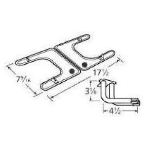 Music City Metals 19102-79202 Stainless Steel Burner Replacement for Select Fiesta Gas Grill Models