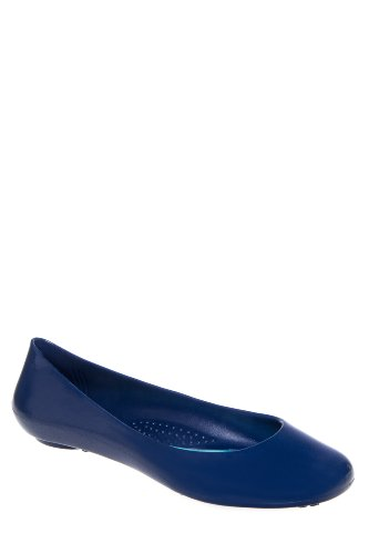 Taylor Round Toe Jelly Flat Shoe - Cape Cod