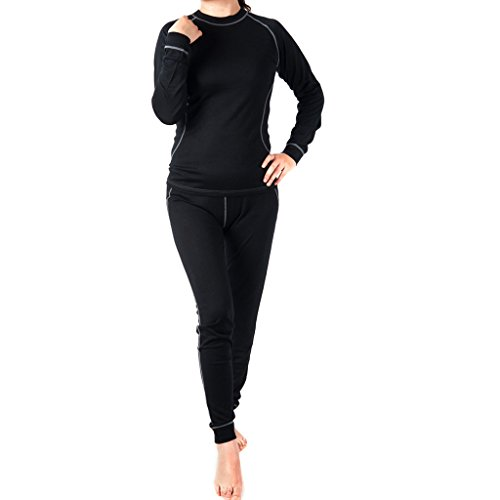 SportownTM Women's Merino Wool Bottom Sports Leggings Base Layer Pant, Medium