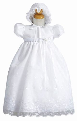 Classy White Baby Baptism Dress - Size 12 Month front-632813