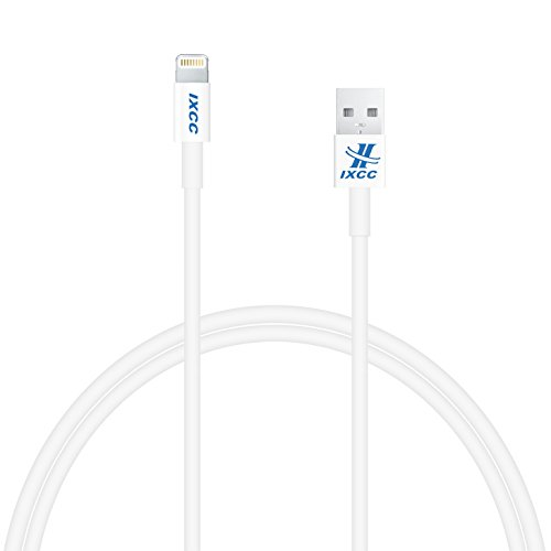 [Apple MFI Certified] iXCC ® Lightning Cable 3ft (Three Feet) Element Series 8 pin to USB SYNC Cable Charger Cord for Apple iPhone 5 / 5s / 5c / 6 / 6 Plus, iPod 7, iPad Mini / mini 2/ mini 3, iPad 4 / iPad Air / iPad Air 2(Compatible with iOS 8) [White]
