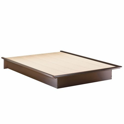 South Shore Furniture Step One Collection Queen Platform Bed, Chocolate
