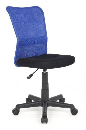 Sixbros chaise de bureau bleue noire h 298f 1327 - Chaise h et h ...