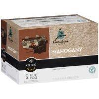 Green Mountain Coffee Roasters Gourmet Single Cup Coffee Mahogany Caribou Coffee 12 K-Cups