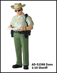 Dave Sheriff Figure For 1:18 Diecast Model Cars 51588