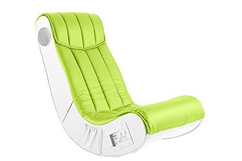 AC-Design-Furniture-48500-Musiksessel-Henk-Bezug-Kunstleder-lime-Seiten-Kunstleder-wei-mit-eingebautem-Soundsystem