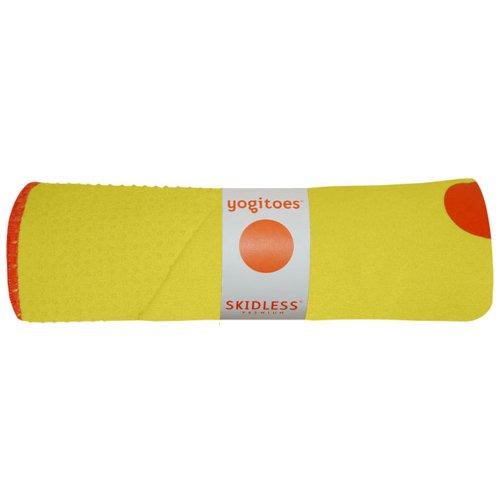 Imagen de Yogitoes Mat Skidless de Gran Tamaño de Yoga de toallas (Amarillo), de color amarillo, Talla Mat (24