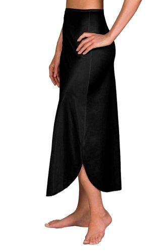 Velrose Daywear Double Slit 1/2 Slip (2116) 1X/Black