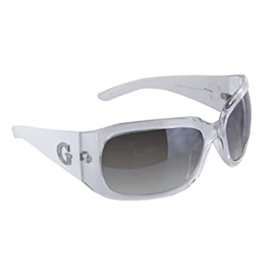 Buy Guess sunglasses GU 6484 STF CYWT-35F Acetate Crystal - White Grey Gradient by GUESS