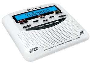 Midland Radio Same Weather Alert Trilingual Monitor Self Setting Clock Crescendo Alarm by MIDLAND RADIO