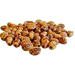 9x7mm Rosary oval carved Beads (500 beads) - Olive wood