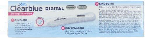 Im Bild: Clearblue Digitaler Schwangerschaftstest (1 Stück)