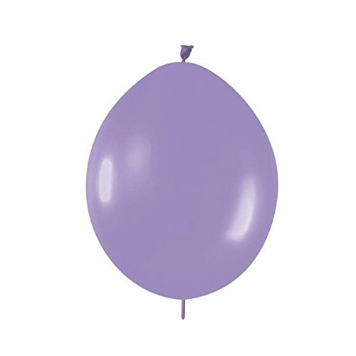 AllyDrew Latex Link Balloons Link-o-Loon Balloons Needle Tail Balloons, 6in Light Purple (set of 10) - 1
