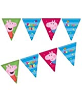 Festone a bandierine per party a tema Peppa Pig
