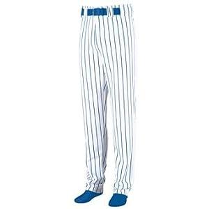 Striped Open Bottom Baseball Softball Pants - 3XL - ROYAL & WHITE by Augusta