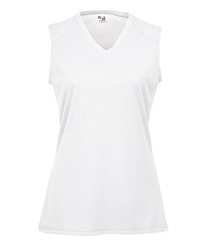 Badger Ladies' Sleeveless Tee - White - 2XL ogio ladies jewel polo xl bright white page 4