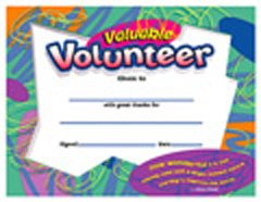Buy CERTIFICATE VALUABLE VOLUNTEER