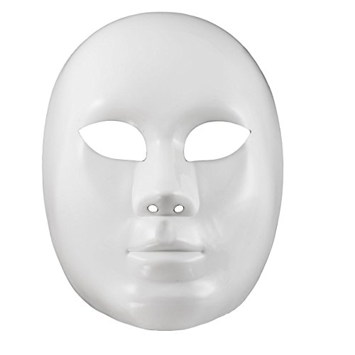 white mask, unpainted