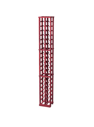 Traditional Premium Redwood Wine Rack For 42 Wine Bottles, 2-Column, Classic Mahogany Stained front-581057