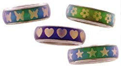 Patterned Mood Ring Band (Sold Individually - Styles Vary)